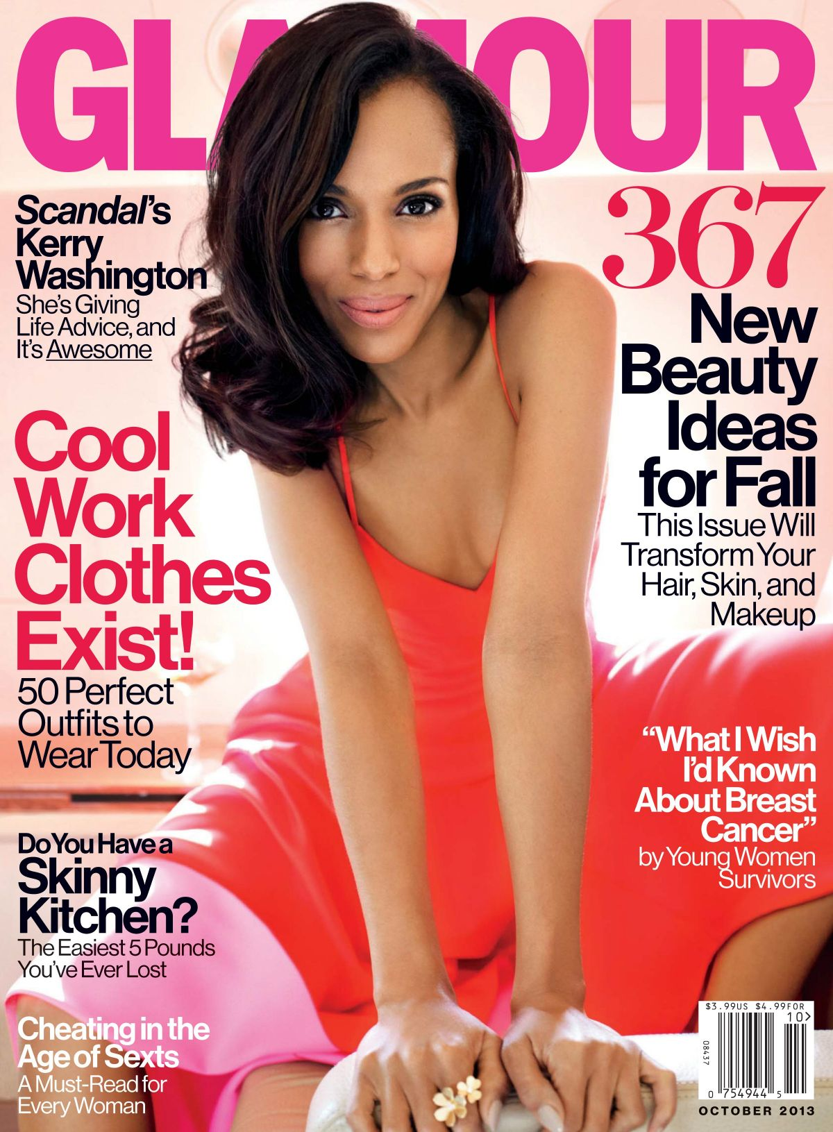 Kerry Washington On The Cover Of Glamour Magazine, October 2013