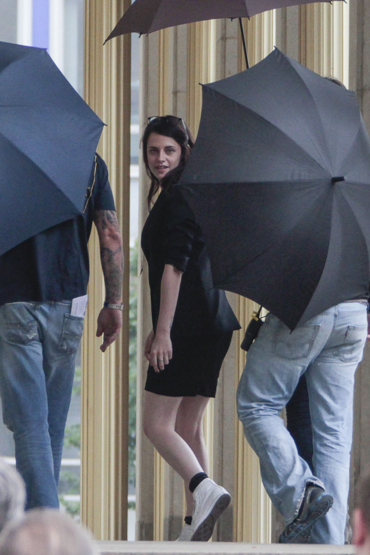 Kristen Stewart On The Set Of Sils Maria In Leipzig