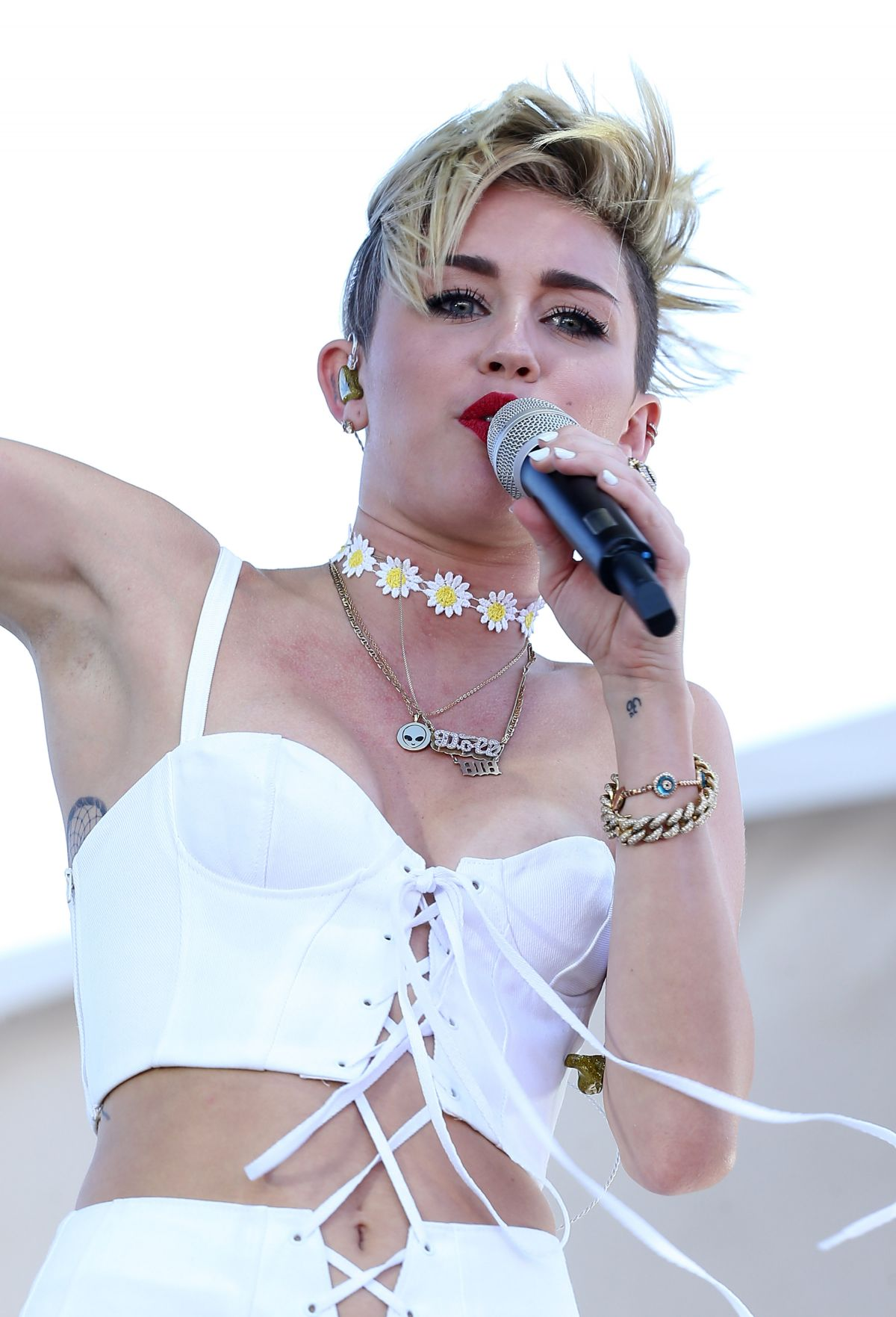Miley Cyrus At iHeartRadio Music Festival Village At MGM Grand