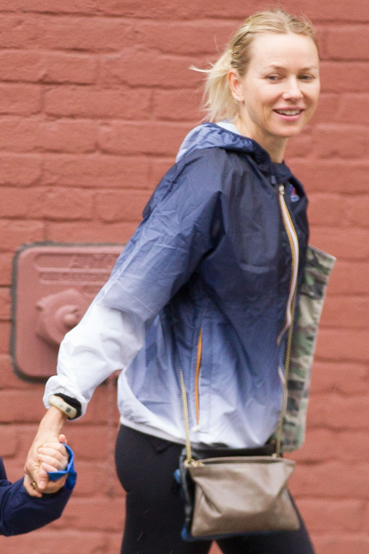 Naomi Watts Outside Her Son