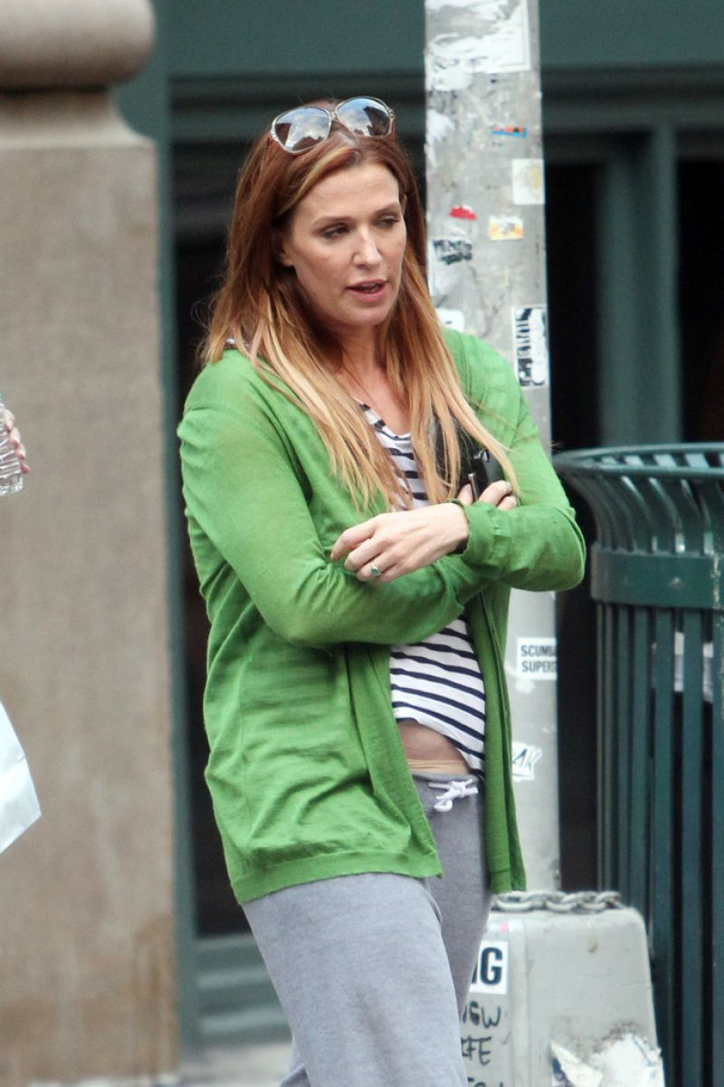 Poppy Montgomery Out In NYC
