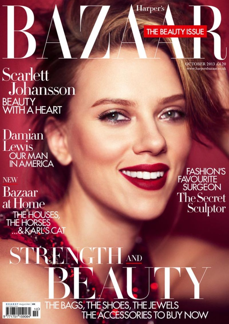 Scarlett Johansson In Harpers Bazaar Magazine, UK October 2013 - Celebzz...