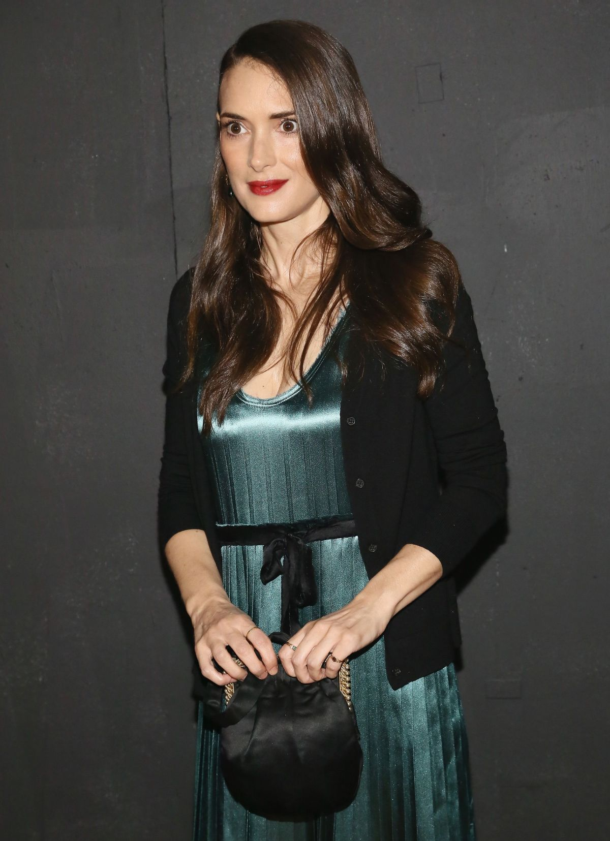 Winona Ryder At The Marc Jacobs Spring 2014 Fashion Show In NYC
