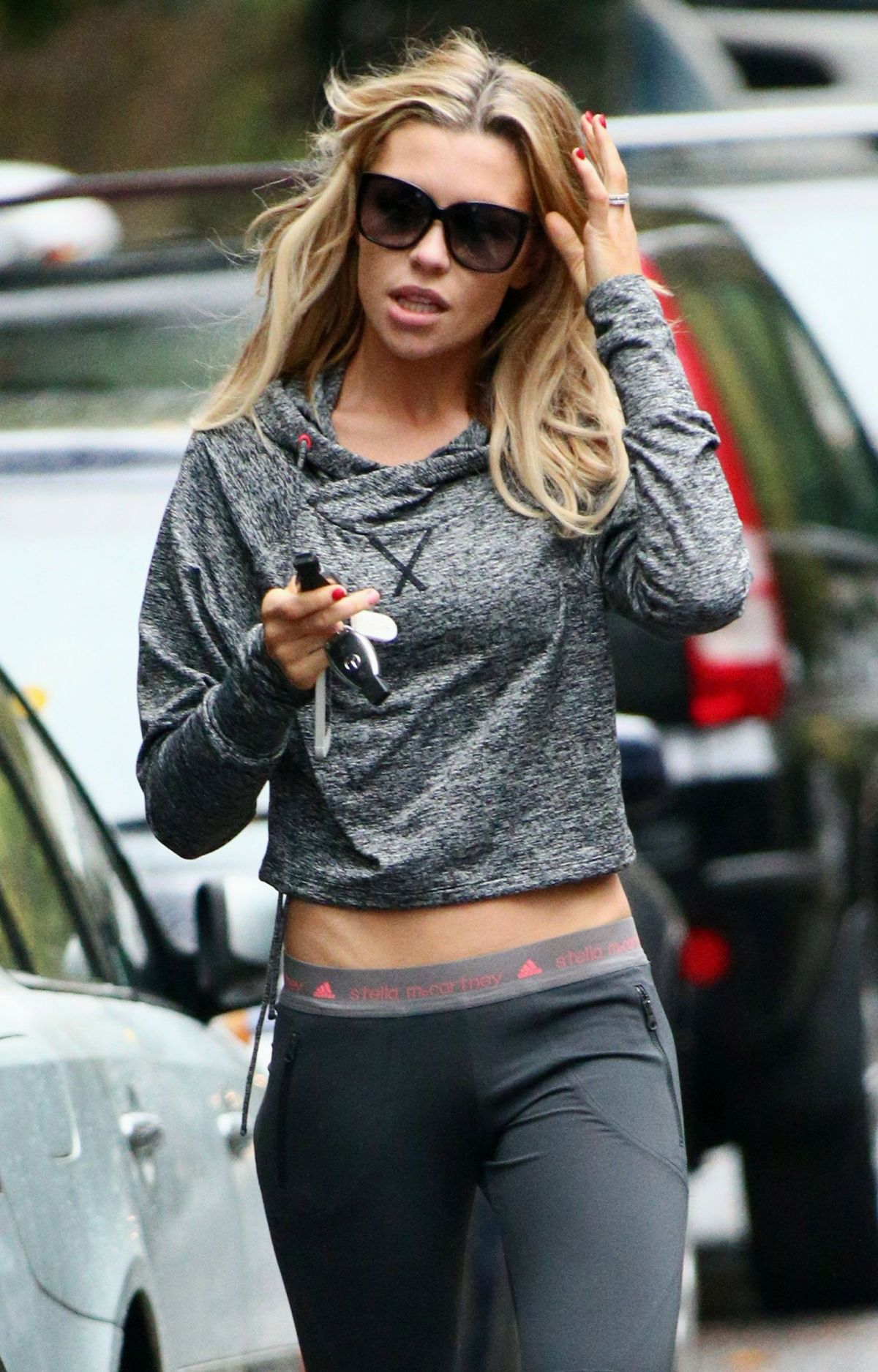 Abbey Clancy Crouch At Yoga Pants Out In London - Celebzz ...