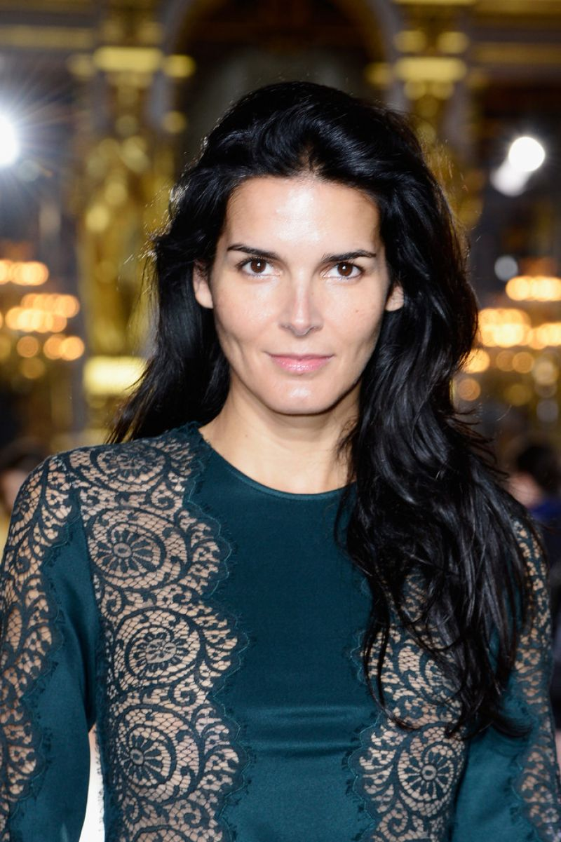 Angie Harmon At More Magazine September 2013: Angie Harmon At Stella McCartney Spring 2014 Fashion Show