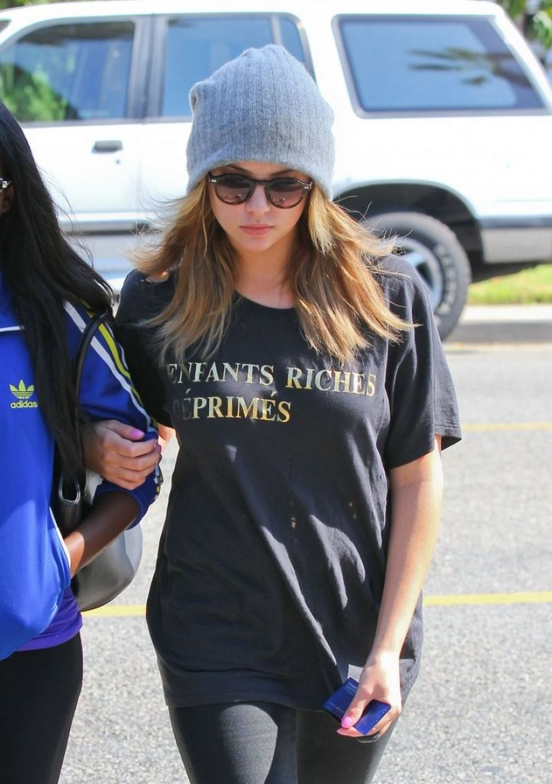 Ashley Benson Out For Lunch At La Conversation In West Hollywood
