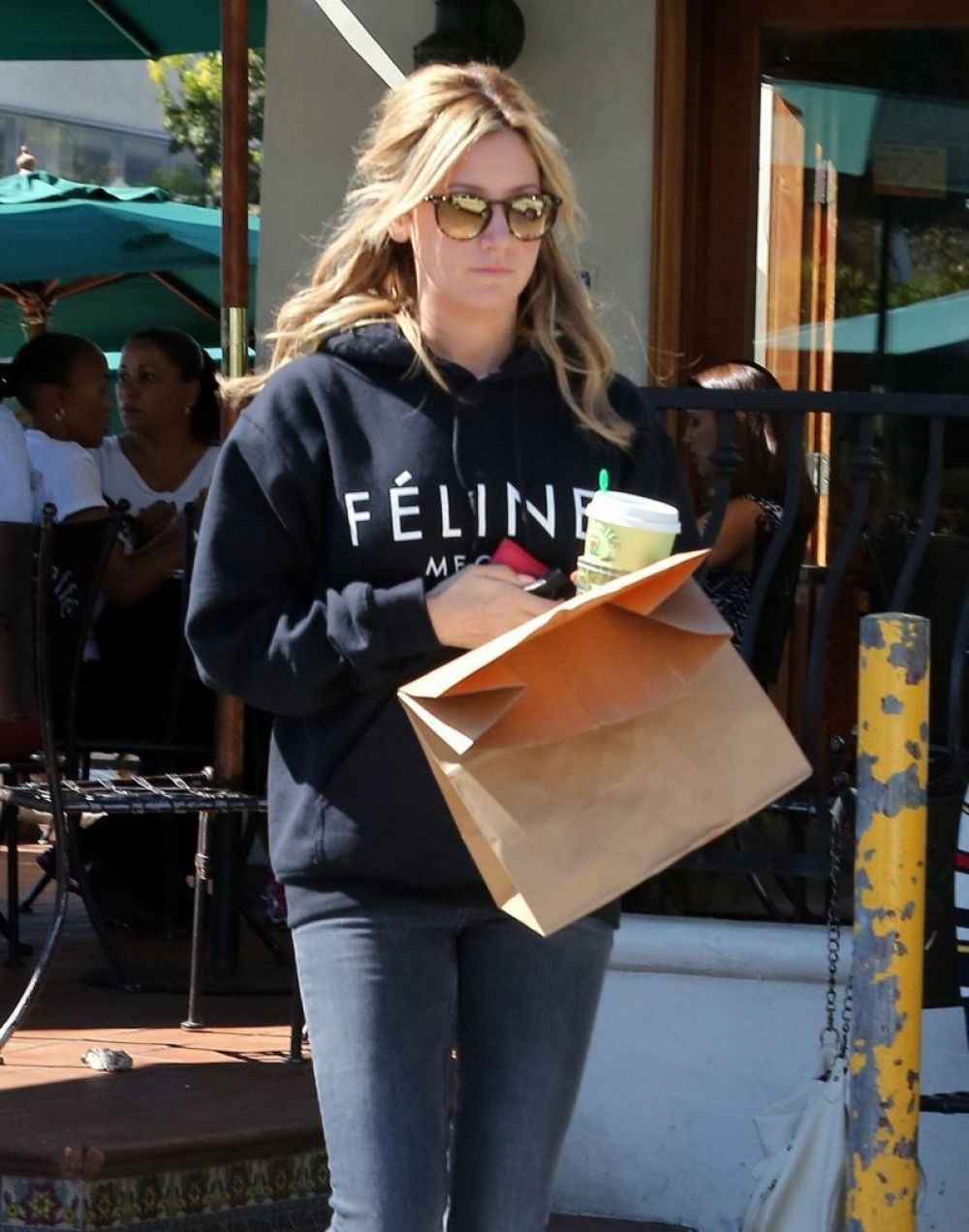 bfac529b4308 Ashley Tisdale Stops By The Urth Caffe In Beverly Hills - Celebzz