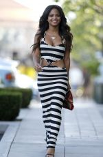 Christina Milian During A Lunch Break In Beverly Hills