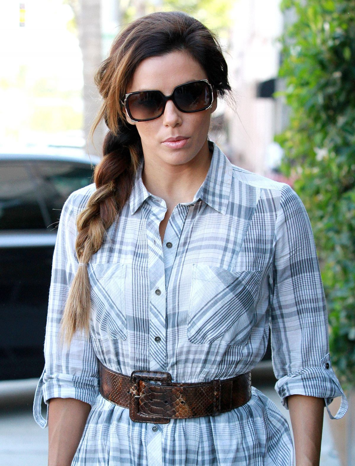 Eva Longoria And Melanie Griffith Shopping At James Perse In Beverly Hills