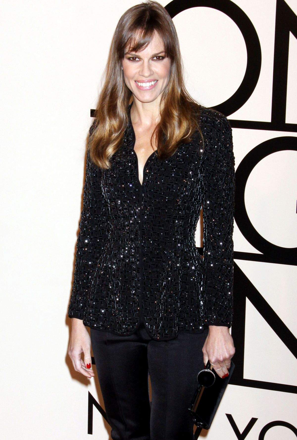 Hilary Swank At Giorgio Armani One Night Only In NYC