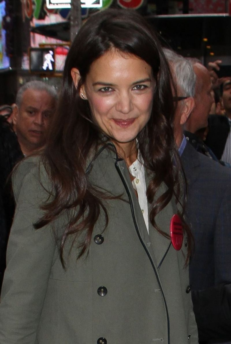 Katie Holmes At ABC Studios In NYC