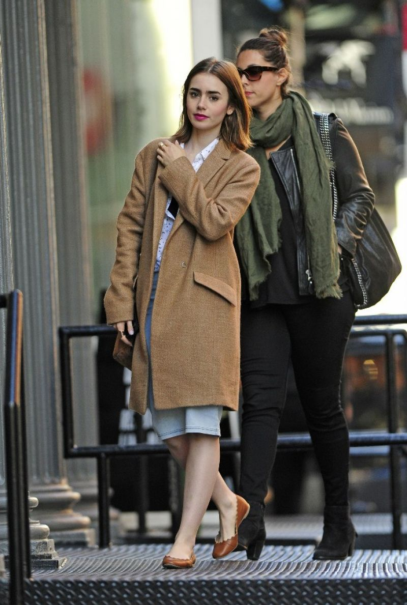 Lily Collins Out About In Soho Celebzz