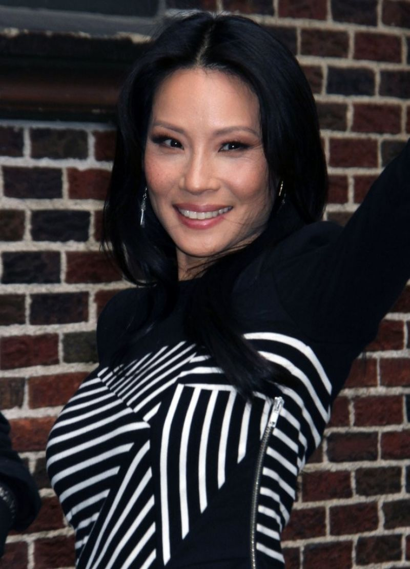Lucy Liu At The Late Show With David Letterman In NYC
