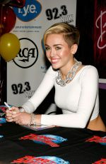 Miley Cyrus At Bangerz Record Release Signing At Planet Hollywood