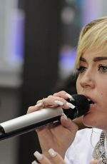 Miley Cyrus Performing On The Today Show In NYC