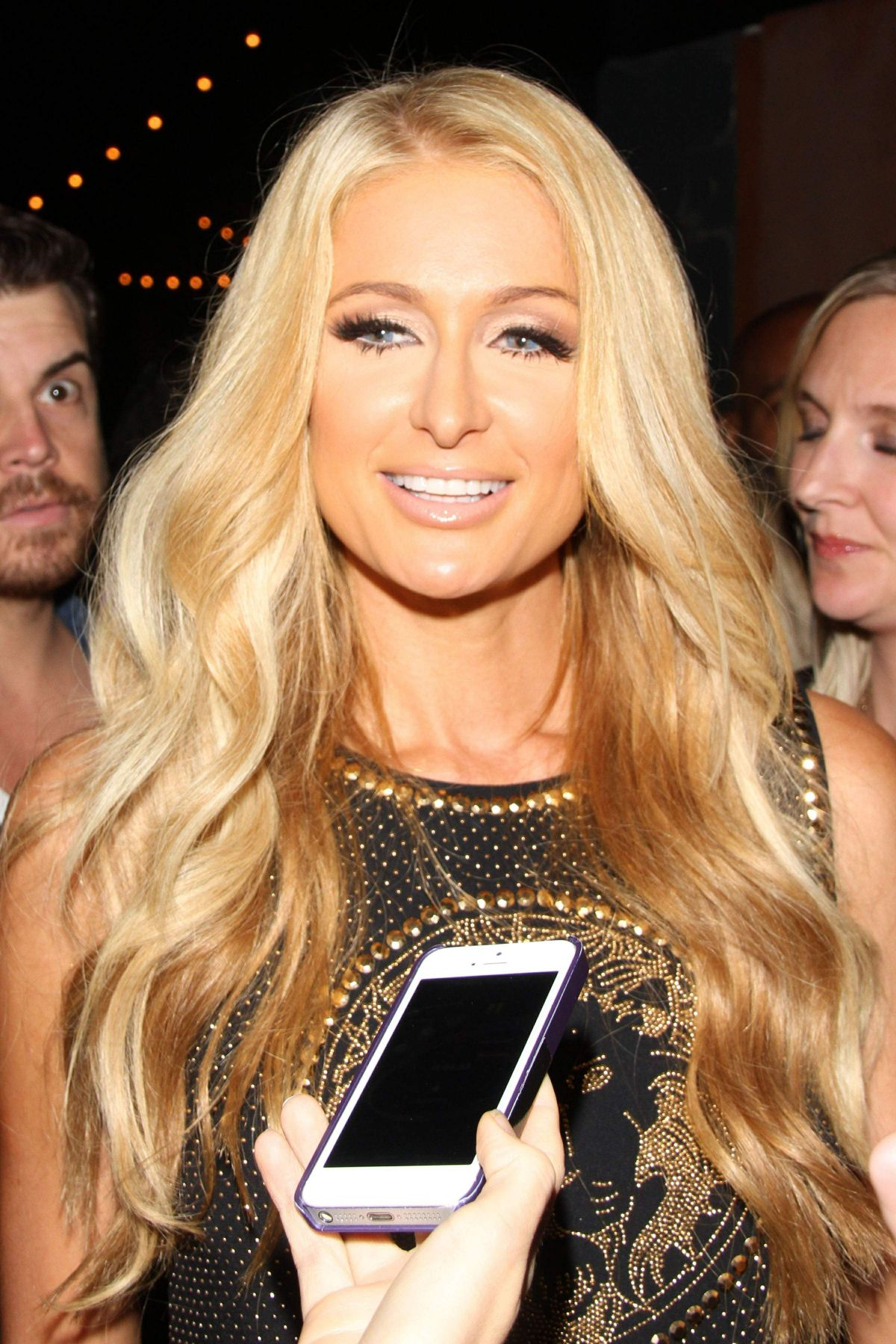 Paris Hilton At Party For Her Single Good Time At Crate Nightclub