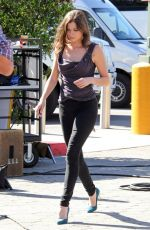 Peyton List On The Set Of Extra In Universal City