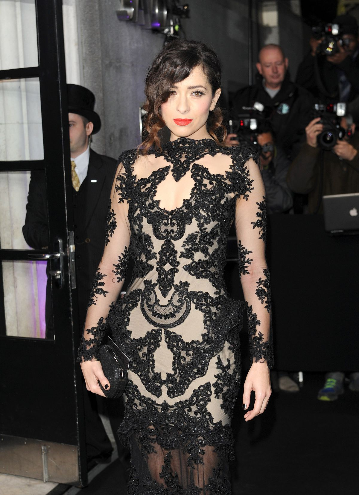 Crystal Reed At Evening Standard Theatre Awards At The Savoy Hotel In London