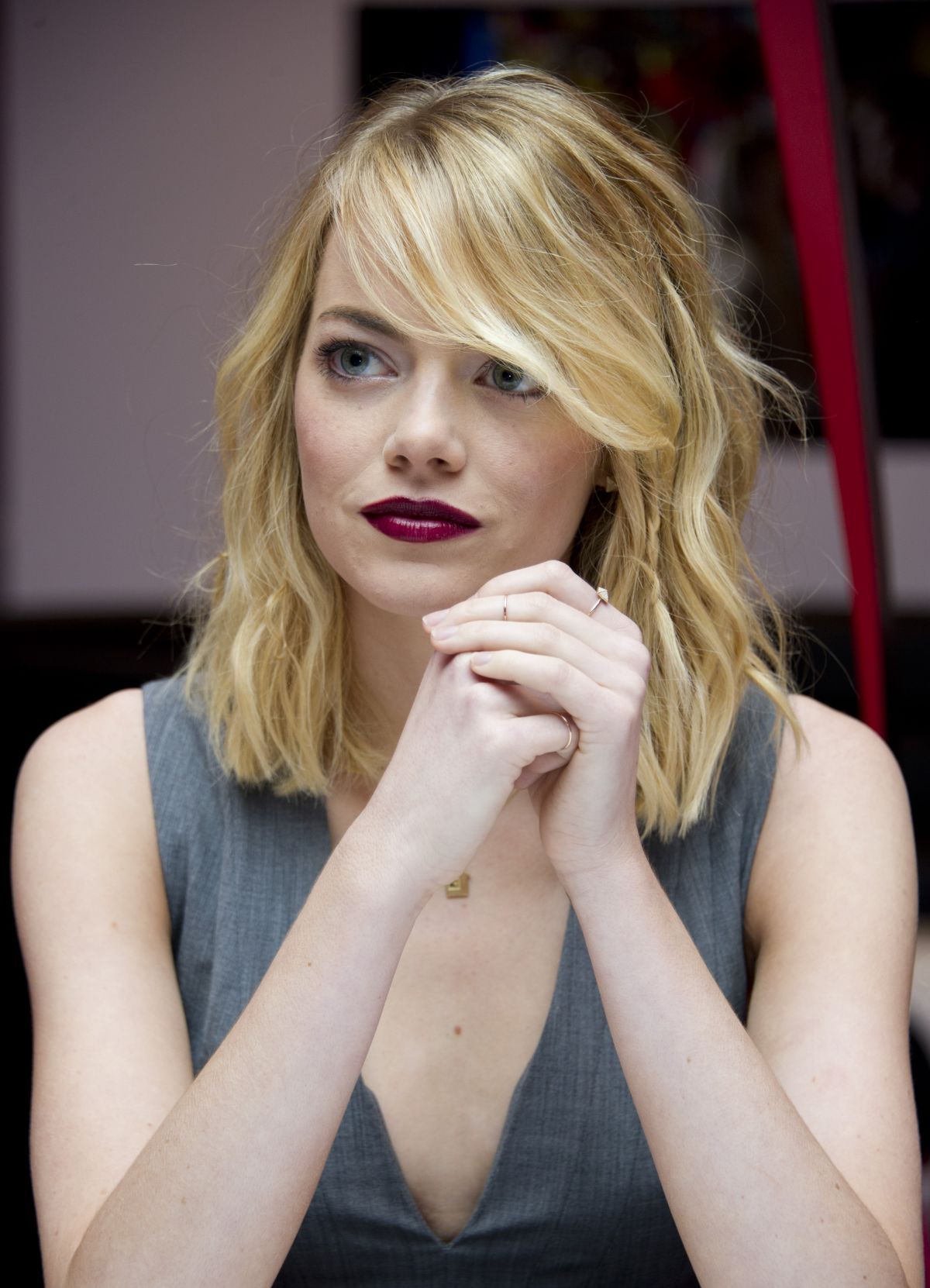 Emma Stone At The Amazing Spider Man 2 Press Conference In