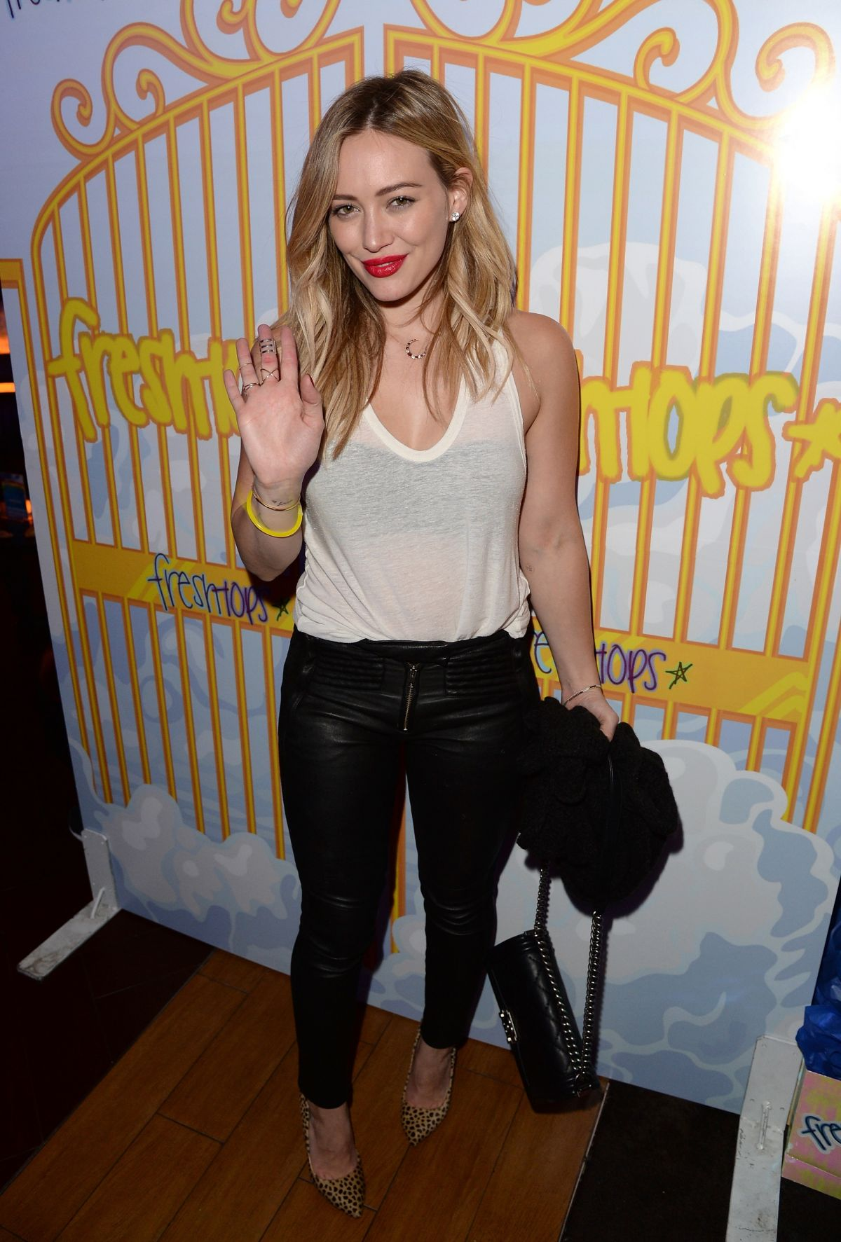 Hilary Duff At Selena Gomez Concert Viewing Party In LA