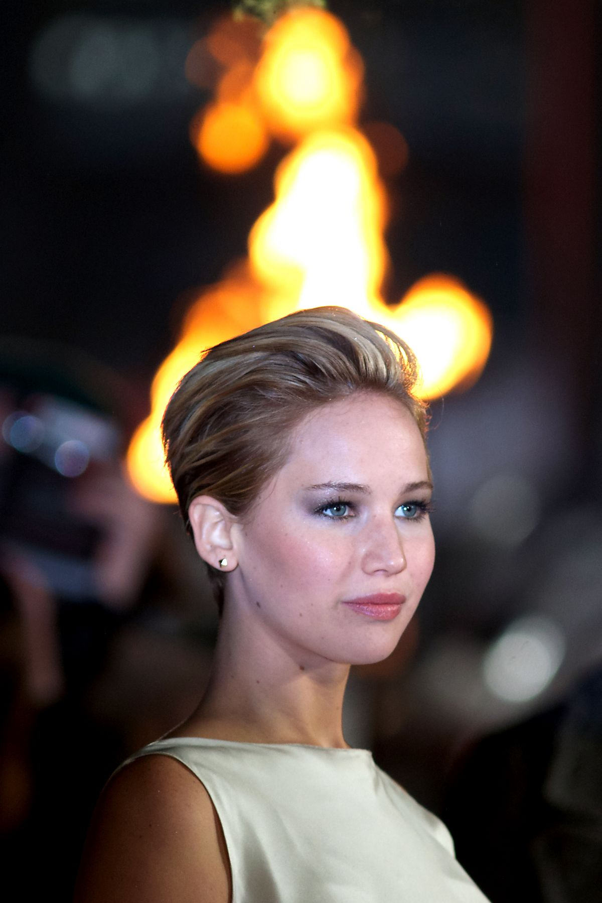 Jennifer Lawrence At The Hunger Games: Catching Fire ...