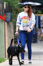 Kristen Stewart Out With Her Dog In Los Angeles