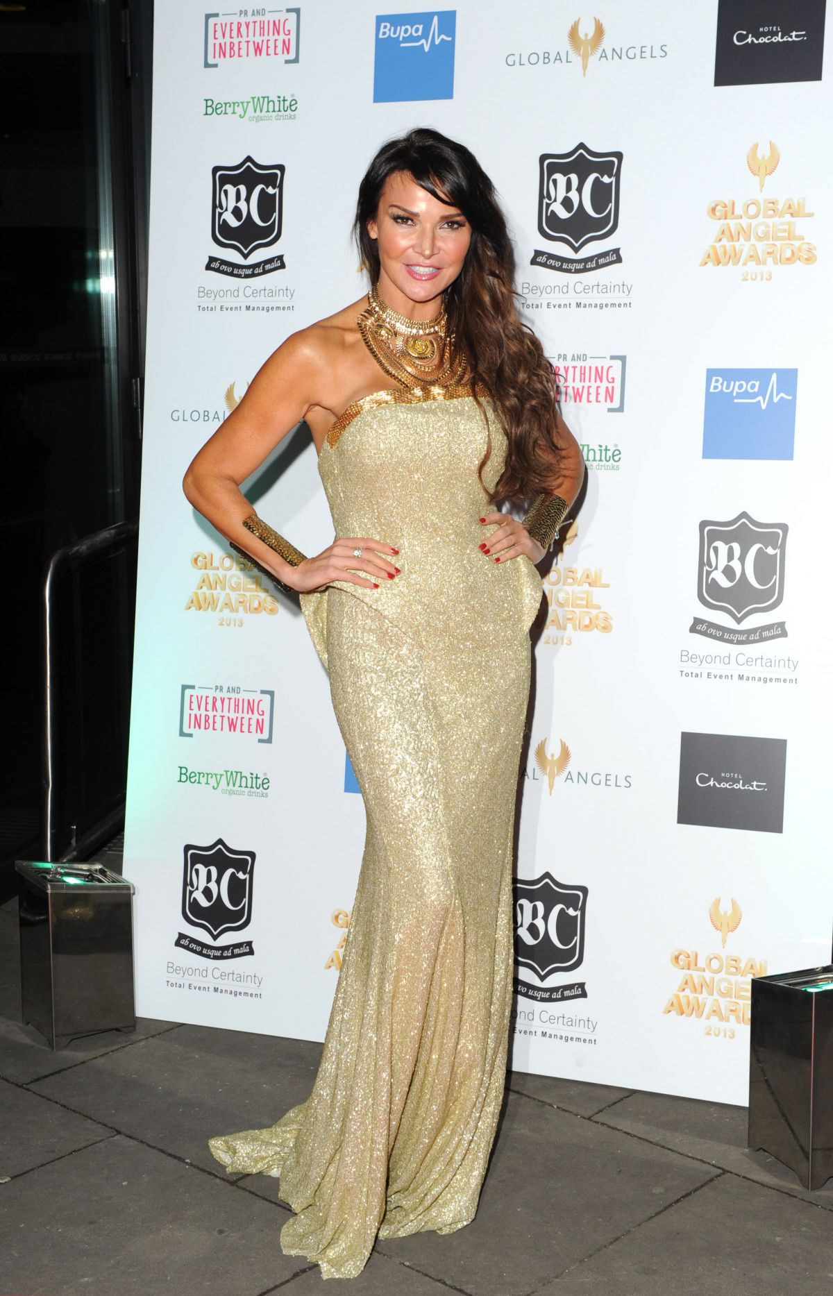 Lizzie Cundy At The Global Angel Awards 2013 In London