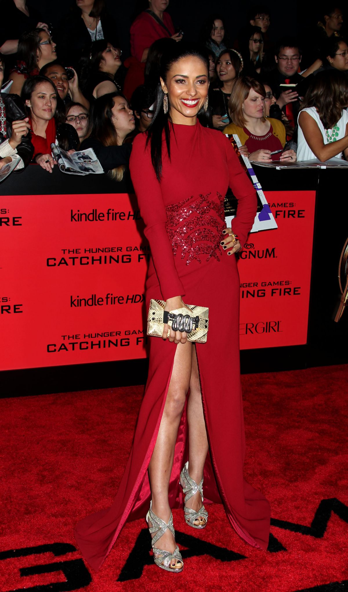 Meta Golding At The Hunger Games Catching Fire Premiere In LA