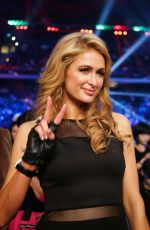 Paris Hilton At Watches Manny Pacquiao Of The Philippines Fight With Brandon Rios
