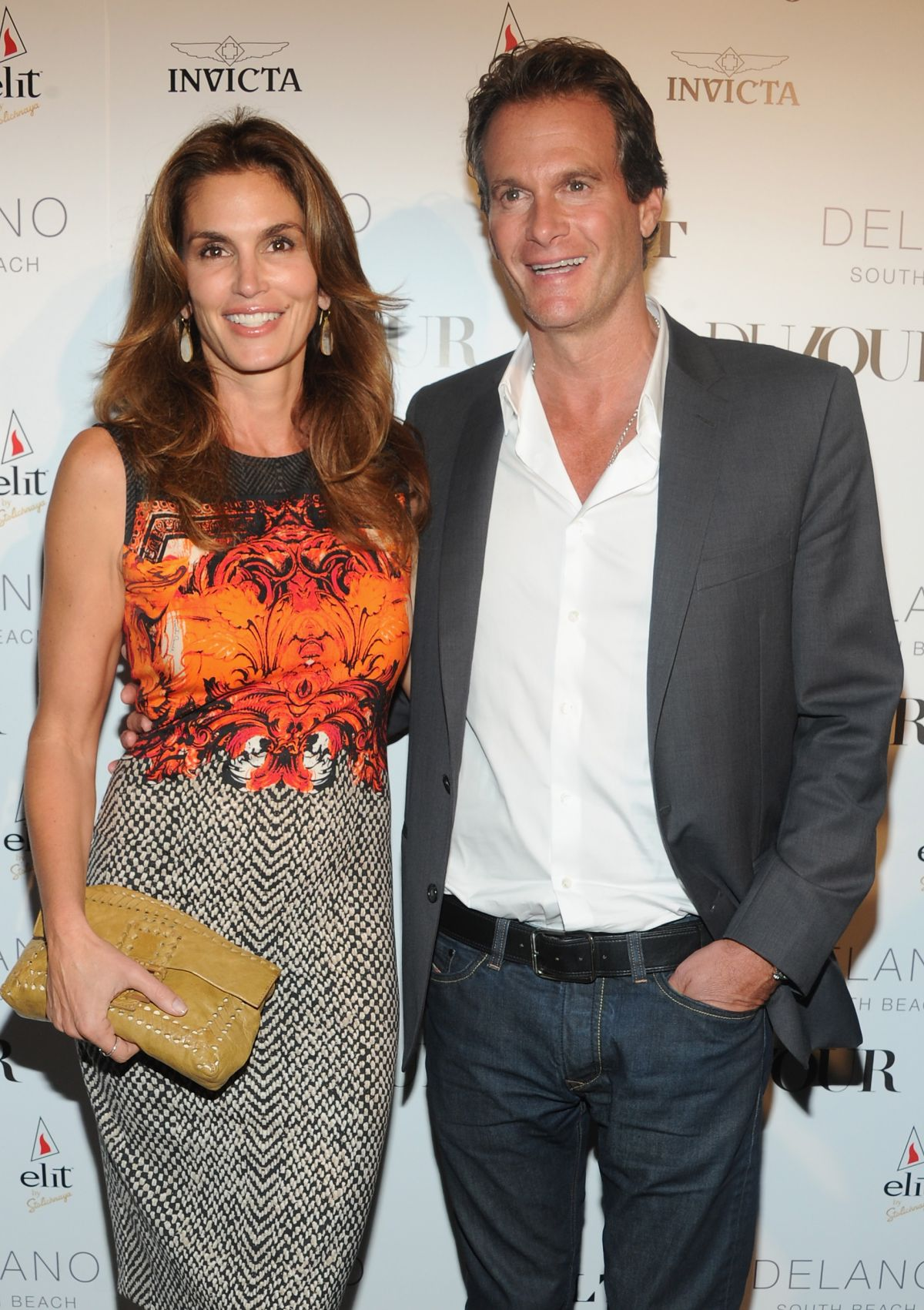 Cindy Crawford At DuJour Magazine Event In Miami Beach