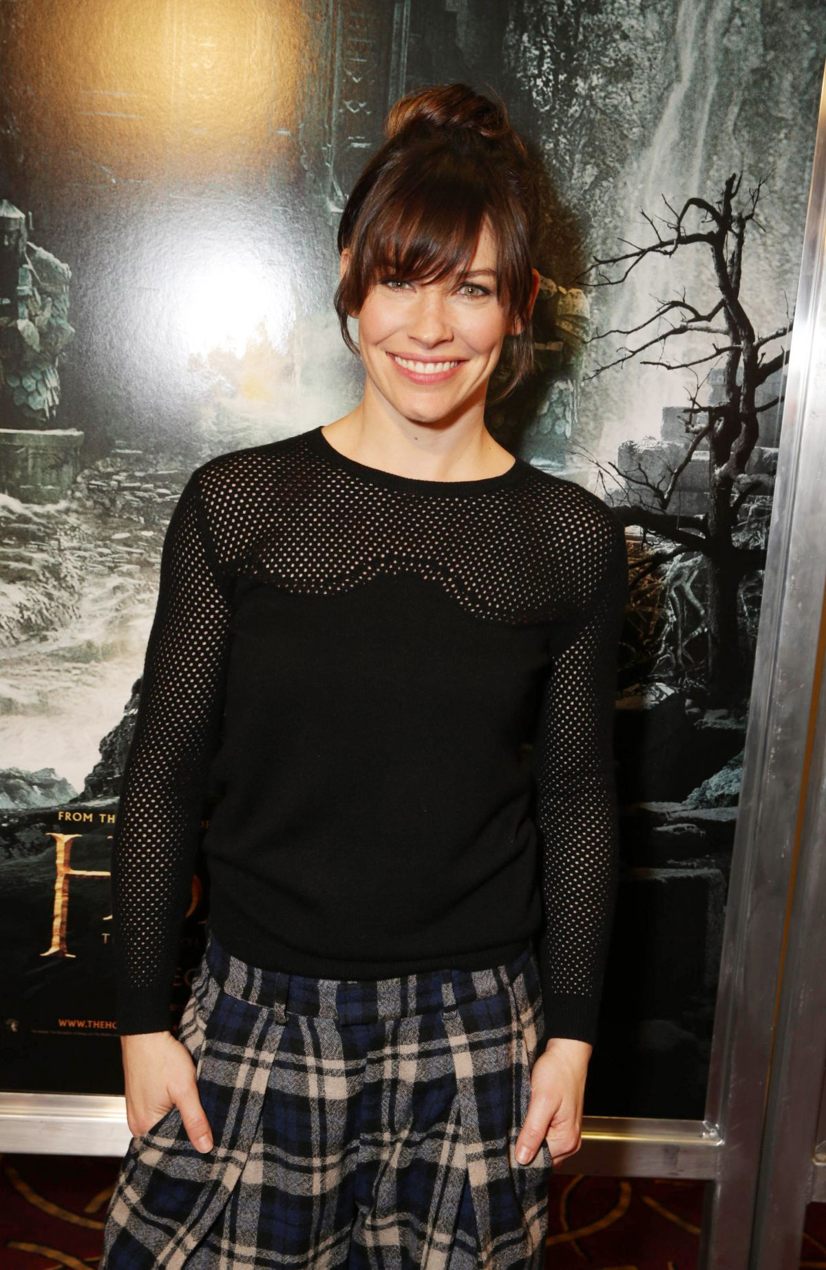 Evangeline Lilly At The Hobbit: The Desolation Of Smaug Fan Event In LA