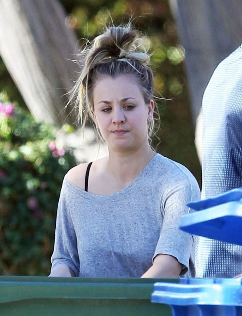 Kaley Cuoco Outside Her Home In Los Angeles