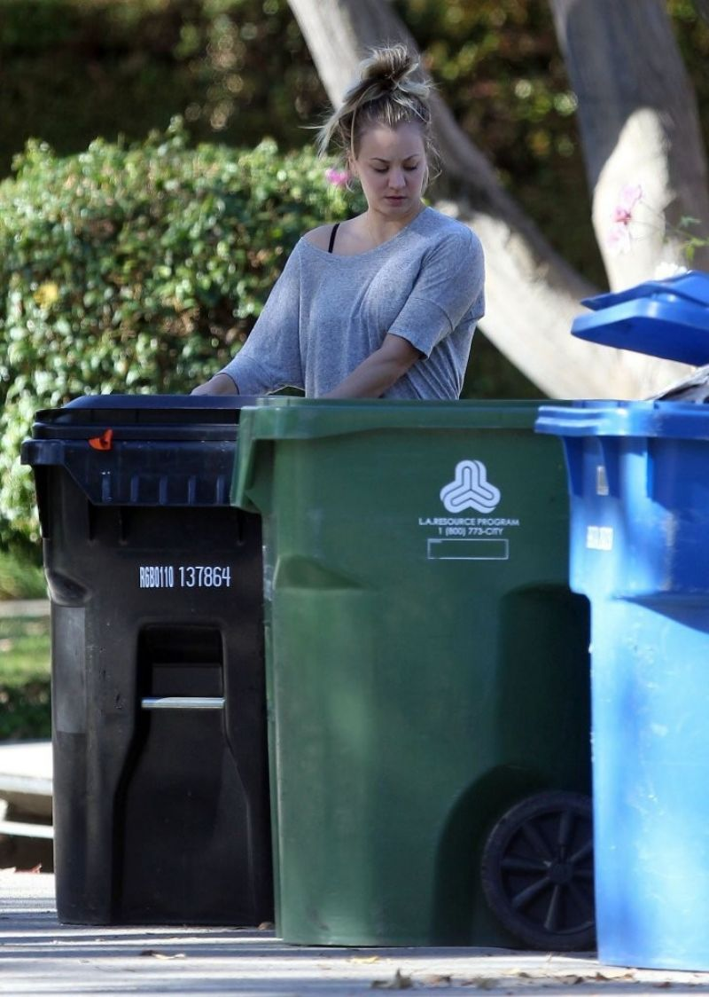 kaley cuoco outside her home in los angeles celebzz