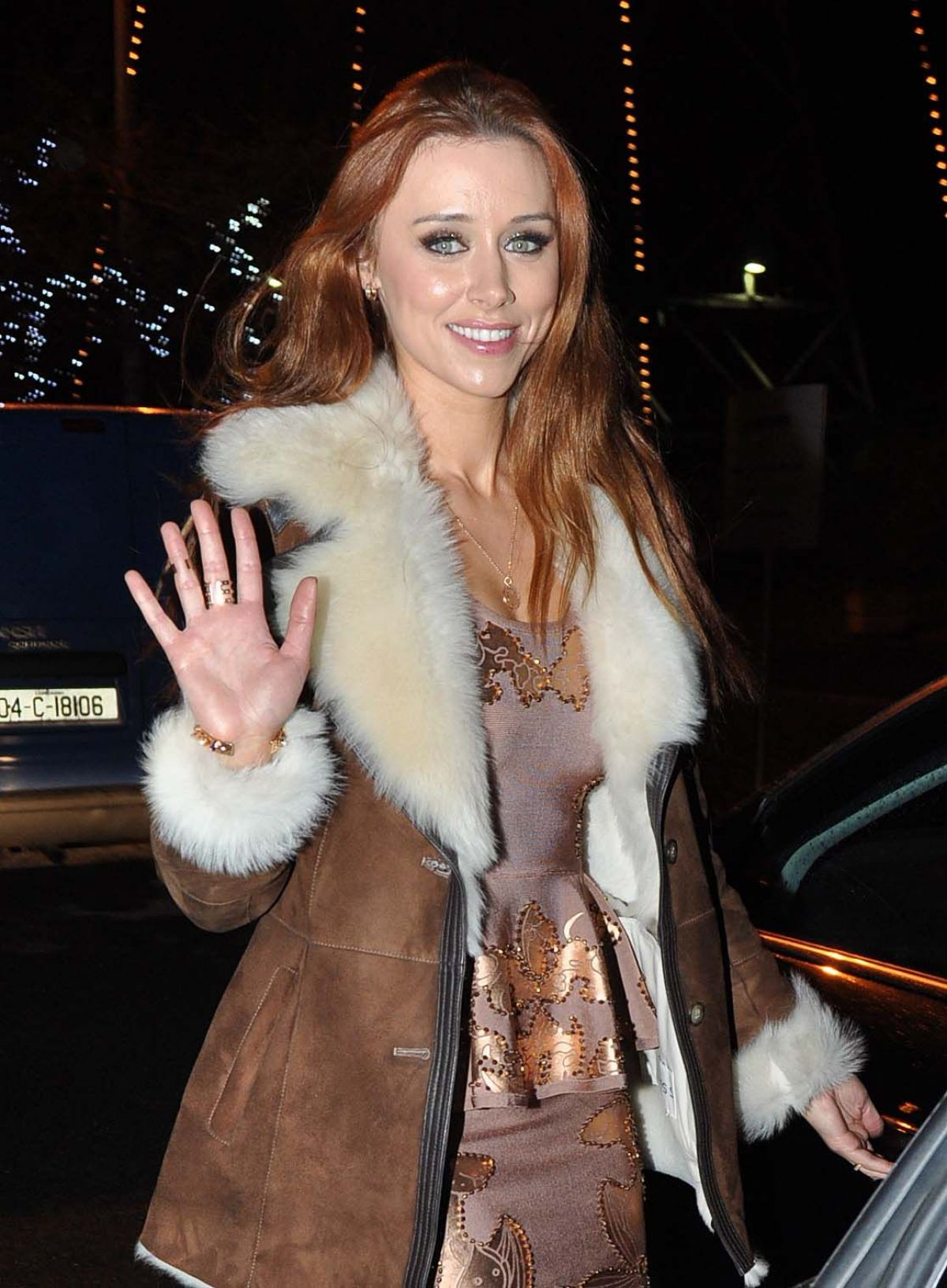 """Una Healy At RTE Studios For """"Late Late Show"""" In Dublin"""