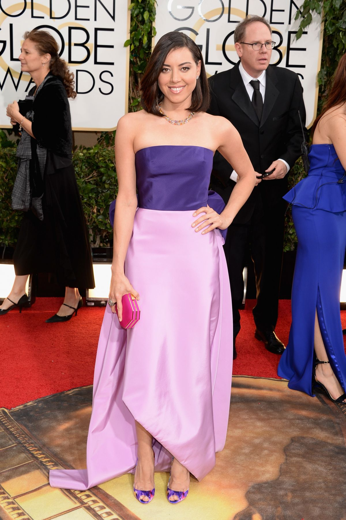 Aubrey Plaza At The 71st Annual Golden Globe Awards In Beverly Hills