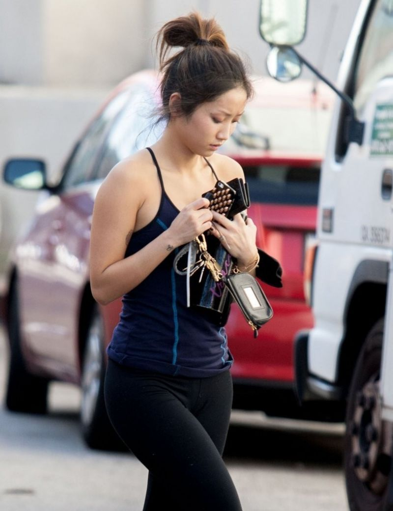 Brenda Song After A Workout In Studio City