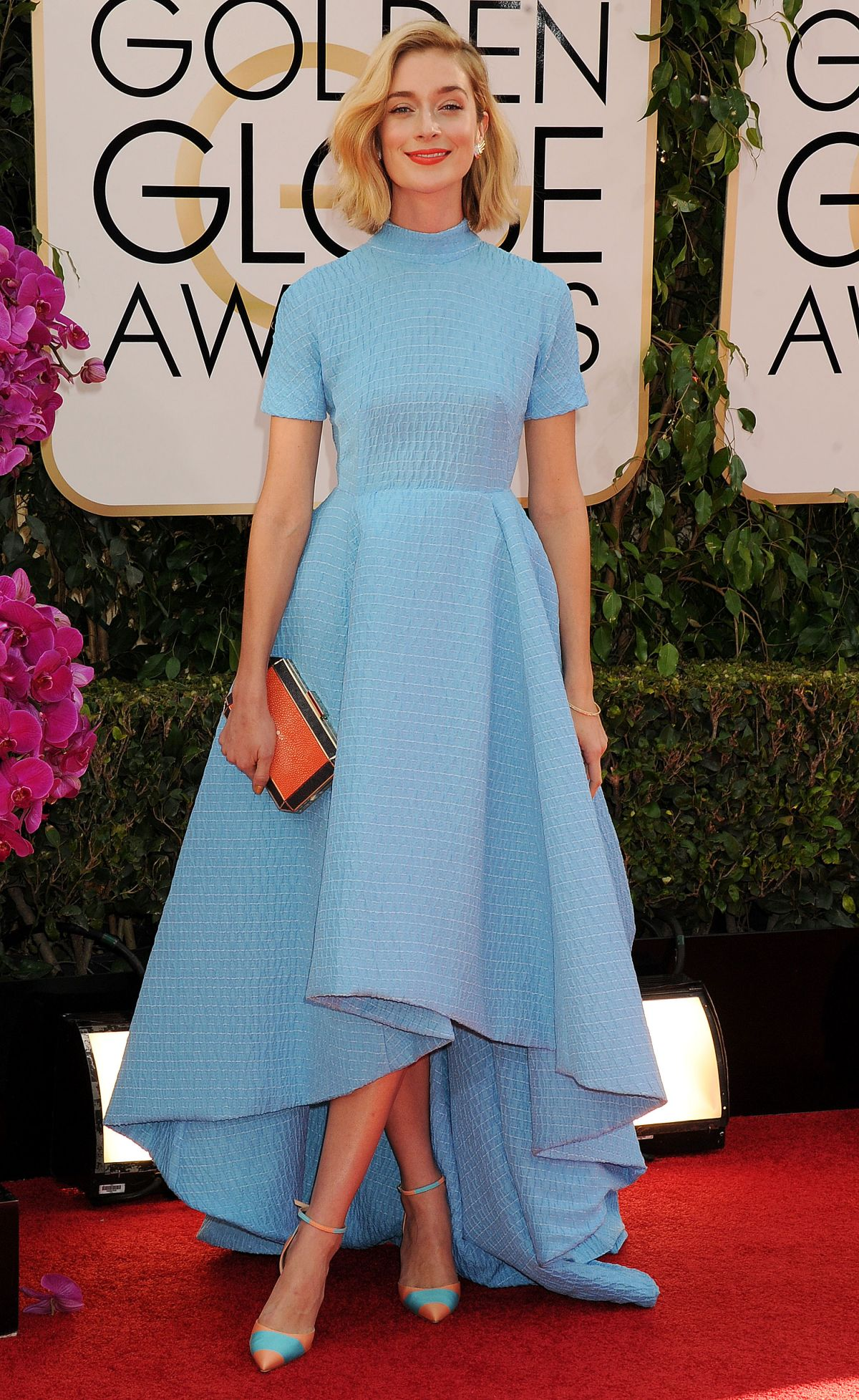 Caitlin Fitzgerald At 71st Annual Golden Globe Awards