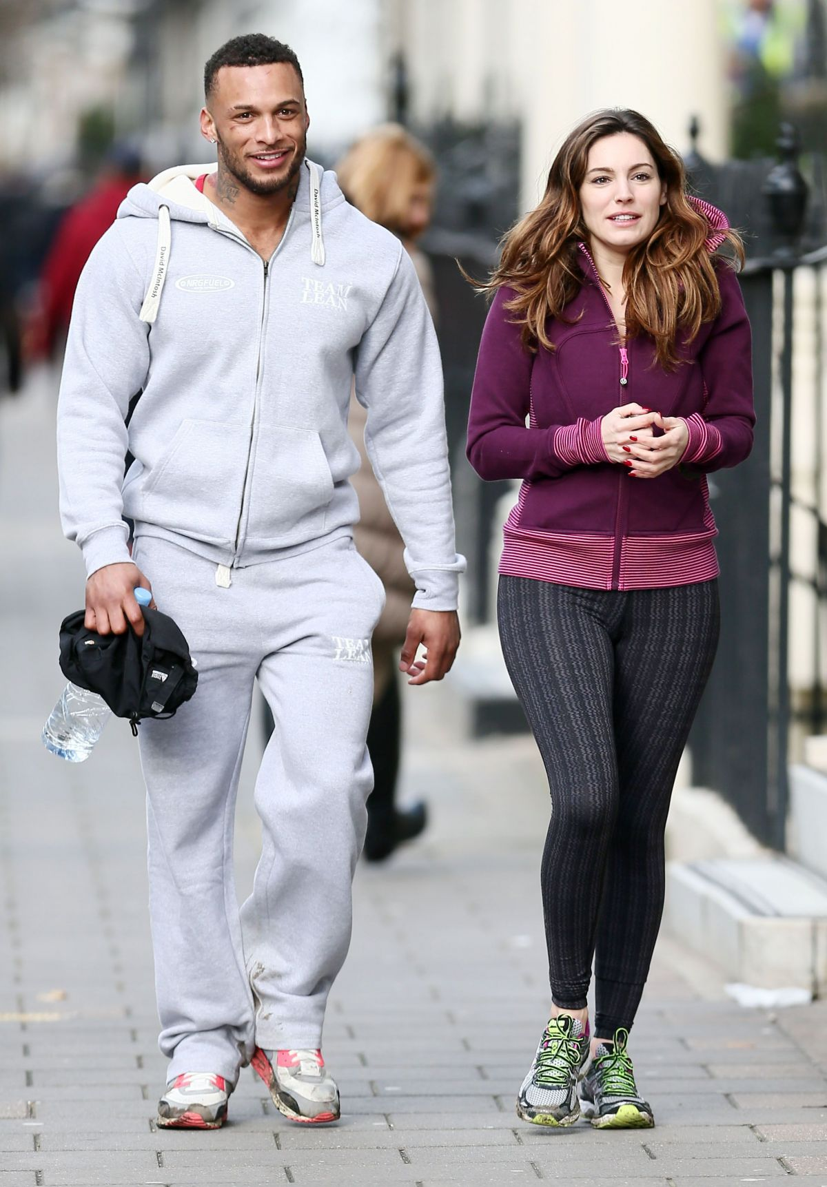 Kelly Brook Working Out With Her New Bloke In London