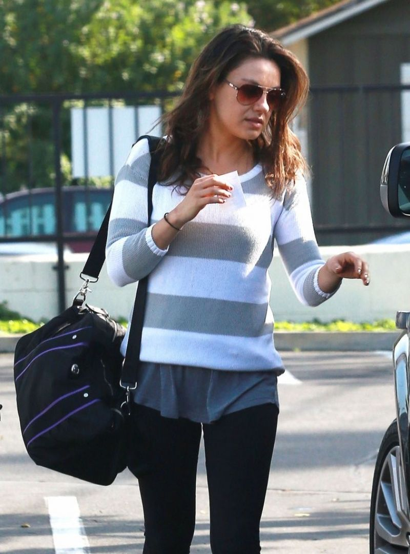 Mila Kunis At A Gym In Hollywood