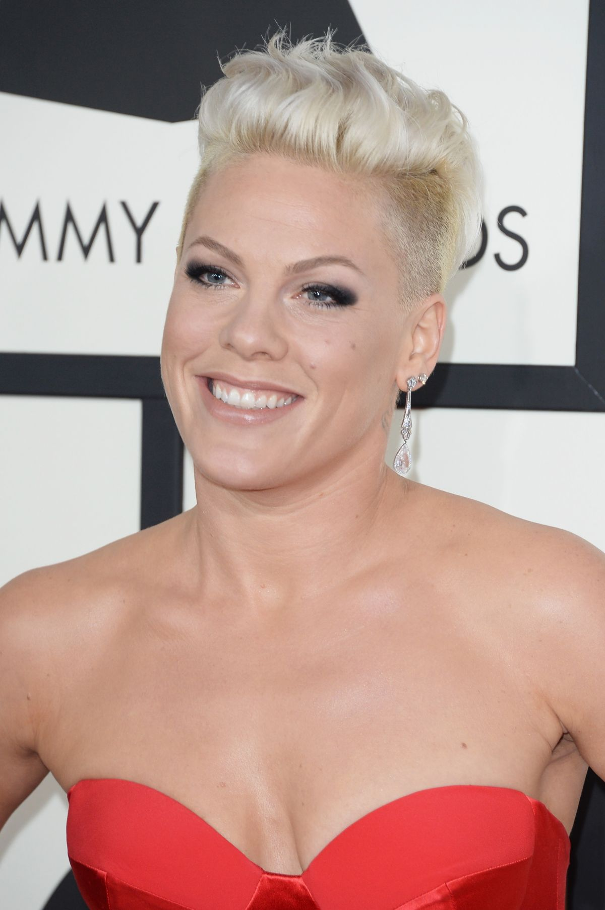 pink at the 56th annual grammy awards celebzz