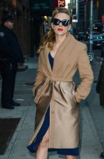 Scarlett Johansson At The Late Show With David Letterman In NY