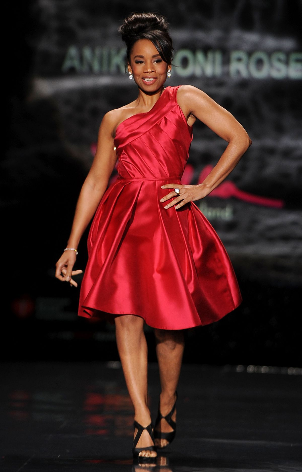 Anika Noni Rose At Heart Truth Red Dress Collection