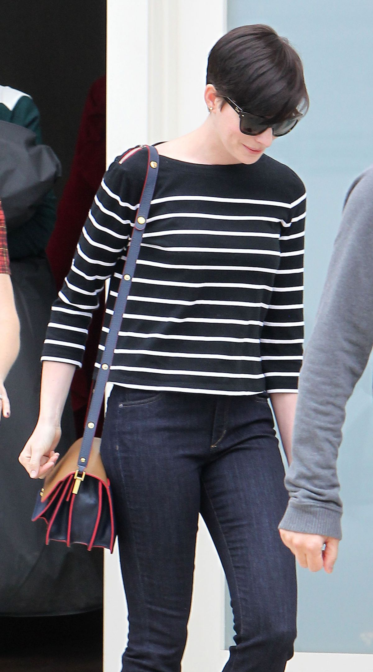 Anne Hathaway Seen Leaving A Singing Lessons Class In LA