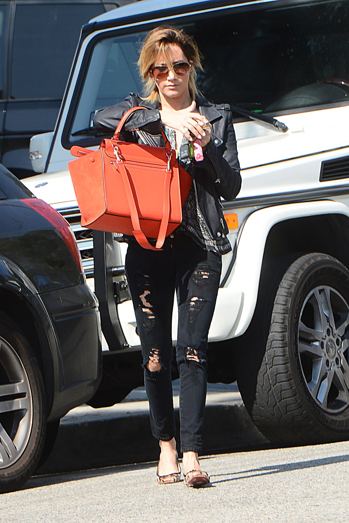 Ashley Tisdale Runnung Errands Out In LA