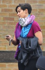 Frankie Sandford Out With Her New Baby In Surrey