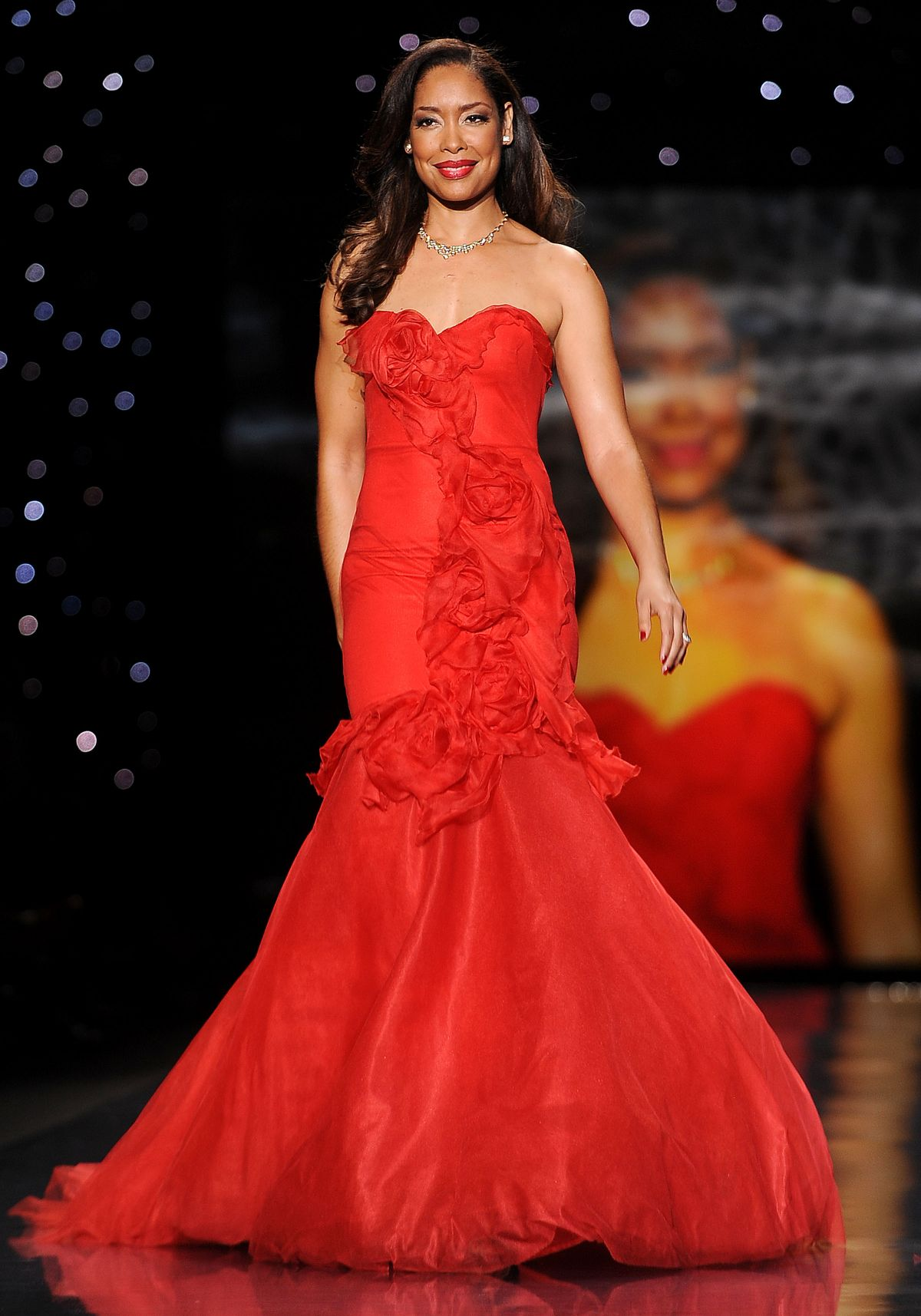 Gina Torres At Heart Truth Red Dress Collection
