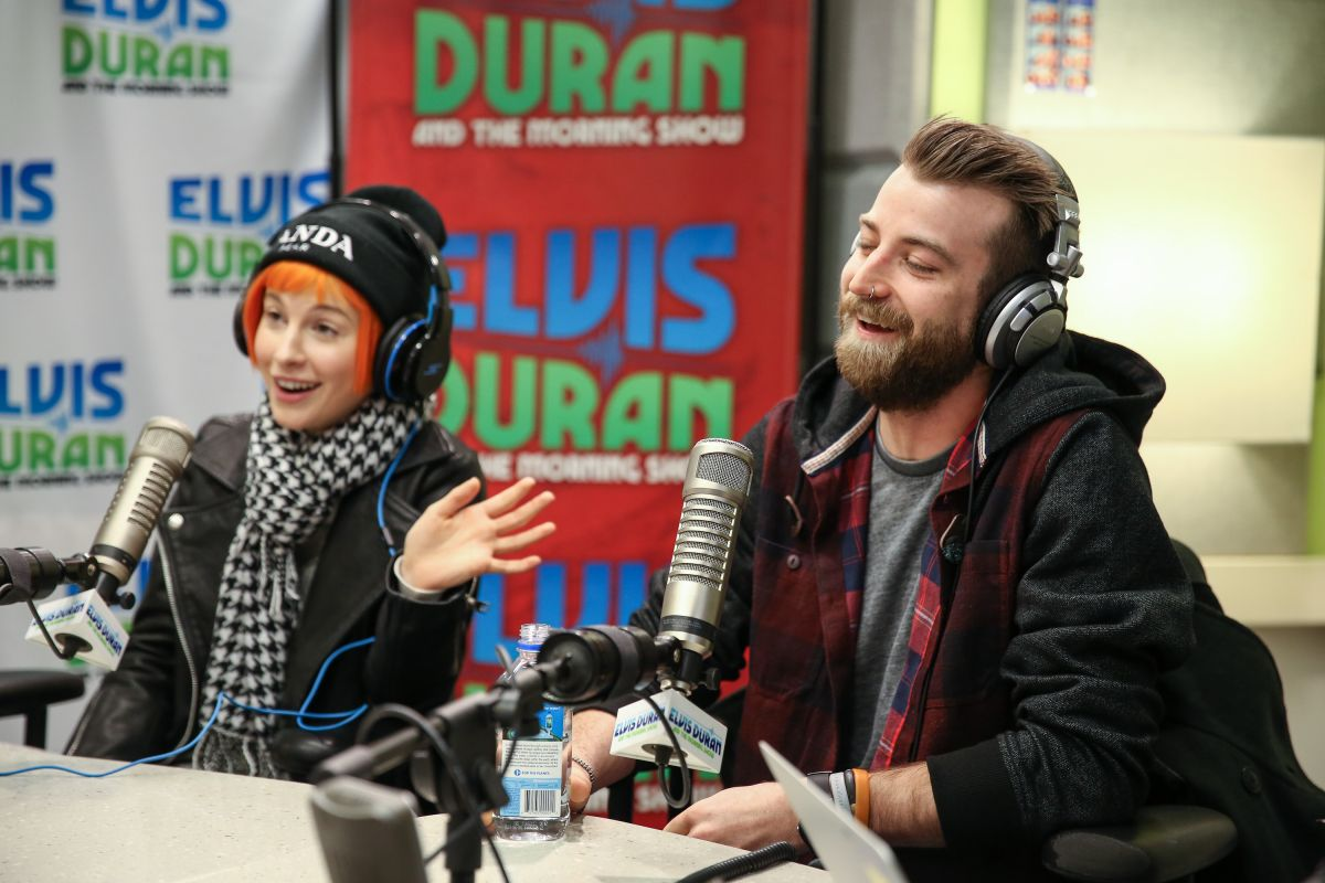 ... Visits The Elvis Duran Z100 Morning Show At Z100 Studio In New York