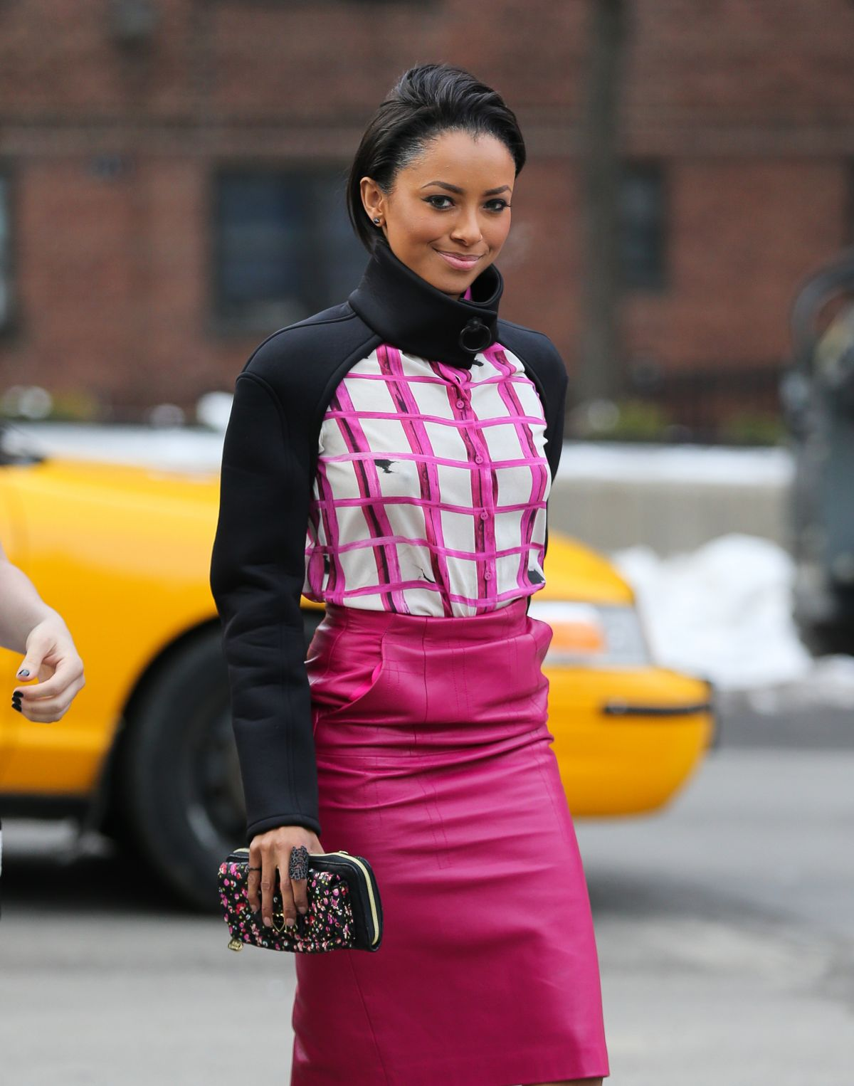 Kat Graham At The Lincoln Center During NYFW In NYC