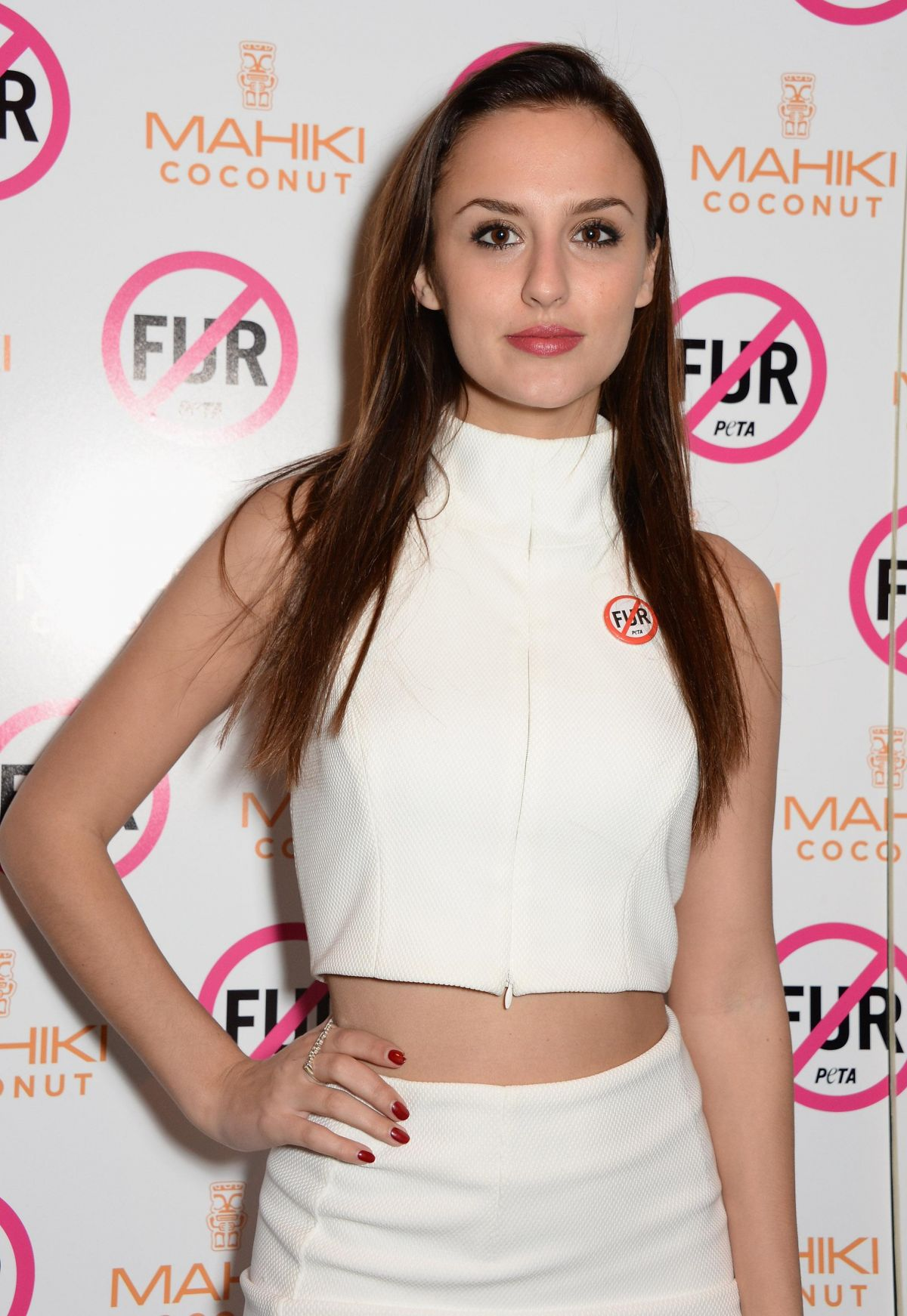 lucy watson at peta host a fur