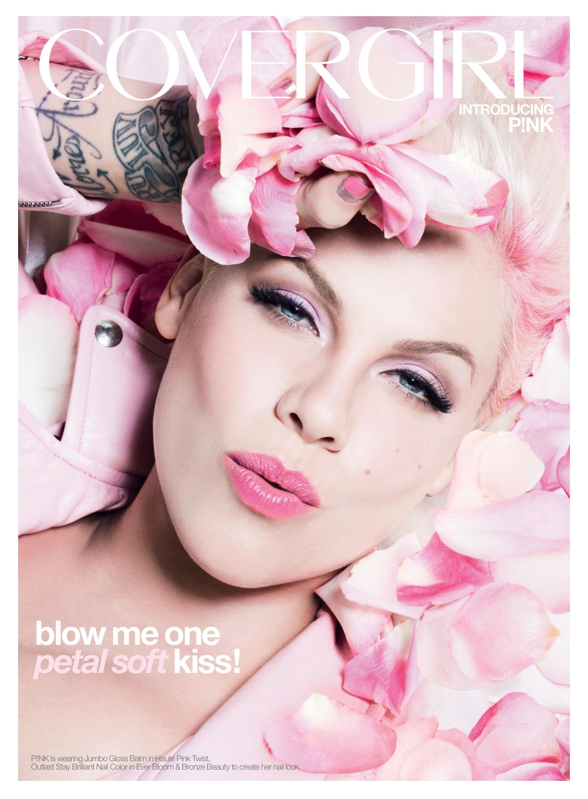 Pink At Covergirl Ad Campaign 2013 - Celebzz